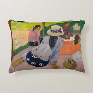 Almofada Decorativa O Siesta por mulheres Tahiti de Paul Gauguin