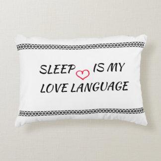Almofada Decorativa O sono é minha língua do amor