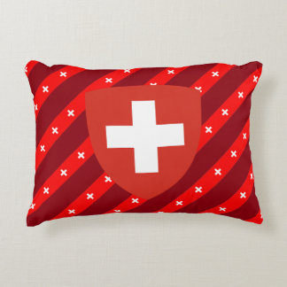 Almofada Decorativa O suíço listra a bandeira