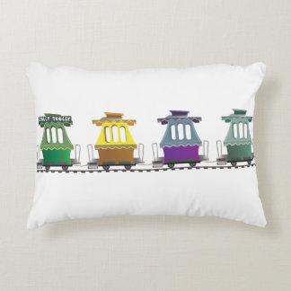 Almofada Decorativa O travesseiro alegre do trem do trole do Fairyland