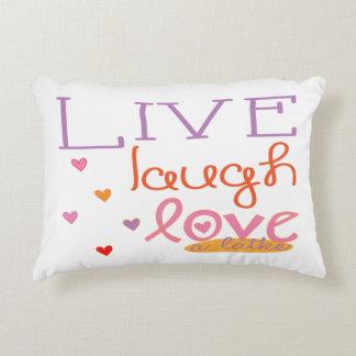 """Almofada Decorativa O travesseiro de Hanukkah """"vive amor do riso"""