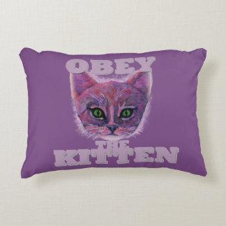 Almofada Decorativa Obedeça o gatinho