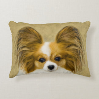 Almofada Decorativa Papillon (tri cor do cão)
