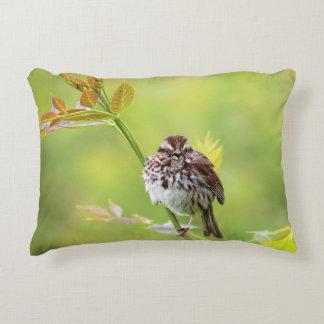Almofada Decorativa Pássaro do pardal do canto