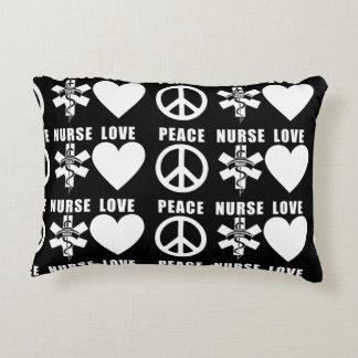 Almofada Decorativa Paz do amor das enfermeiras