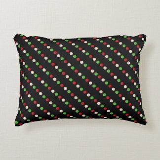 Almofada Decorativa Pontos brancos verdes vermelhos