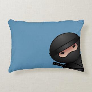 Almofada Decorativa Pouco guerreiro de Ninja no azul