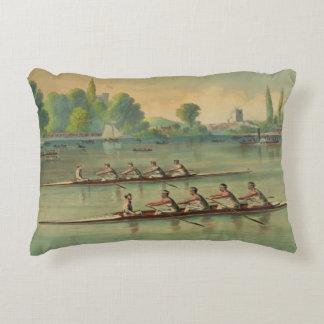 Almofada Decorativa Raça de barco da raça do grupo dos Rowers do
