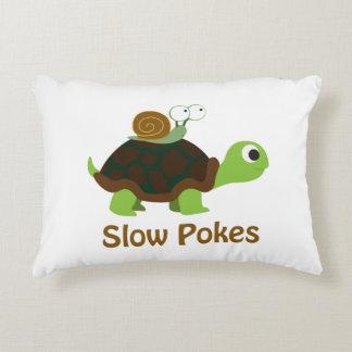 Almofada Decorativa Retarde puxões tartaruga bonito e caracol