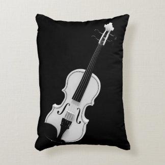 Almofada Decorativa Retrato do violino - fotografia preto e branco