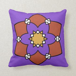 "Almofada Almofada decorativa, ""Rosácea"", violetas e"