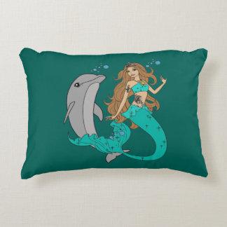 Almofada Decorativa Sereia com golfinho