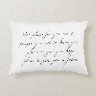 """Almofada Decorativa """"Seus planos para você"""" travesseiro mínimo do"""