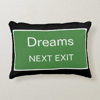 Almofada Decorativa Sinal seguinte da saída dos sonhos