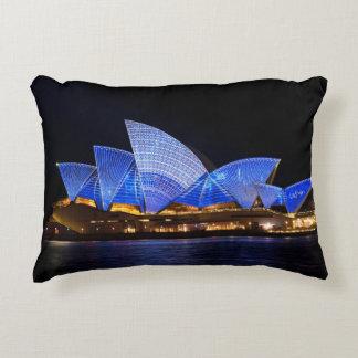 Almofada Decorativa Teatro da ópera de Austrália Sydney na noite