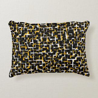 Almofada Decorativa Teste padrão amarelo branco preto de Digitas Camo