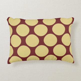 Almofada Decorativa Teste padrão de bolinhas amarelo e vermelho à moda