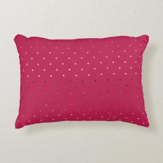 Almofada Decorativa teste padrão de bolinhas cor-de-rosa do rosa do