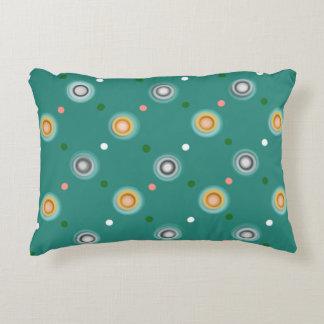 Almofada Decorativa Teste padrão de bolinhas verde feliz moderno