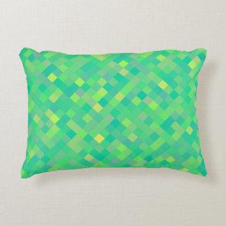 Almofada Decorativa Teste padrão de mosaico verde/amarelo na moda à