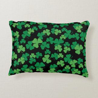 Almofada Decorativa Teste padrão do trevo do dia do St. Patricks