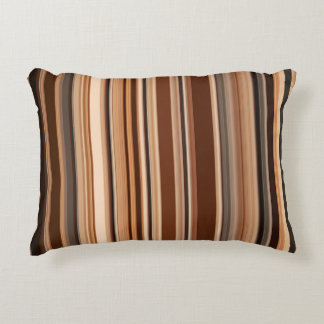 Almofada Decorativa Teste padrão listrado de Brown