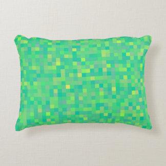 Almofada Decorativa Teste padrão multicolorido verde na moda à moda do