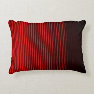 Almofada Decorativa Teste padrão vermelho e preto da listra