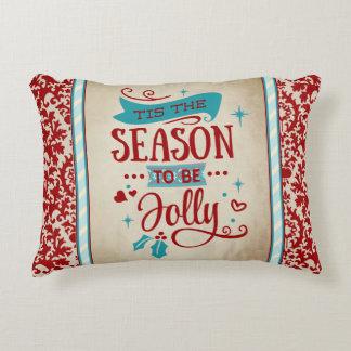 Almofada Decorativa Tis o travesseiro do acento do Natal da estação