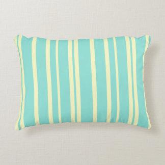 Almofada Decorativa Travesseiro azul & amarelo do acento do chique das