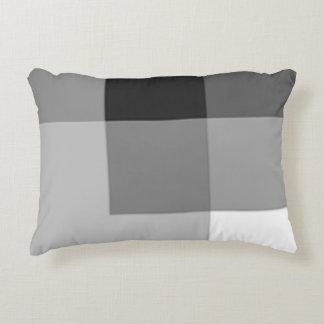 Almofada Decorativa Travesseiro cinzento do acento das máscaras da cor