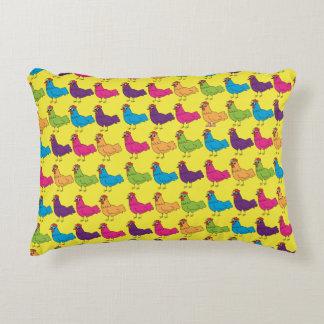 Almofada Decorativa Travesseiro colorido das galinhas