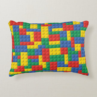 Almofada Decorativa Travesseiro colorido do teste padrão dos blocos de
