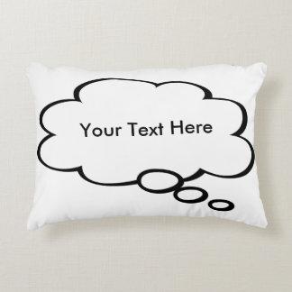 Almofada Decorativa Travesseiro customizável da bolha da palavra