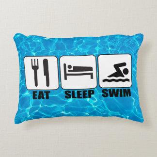 Almofada Decorativa Travesseiro da novidade do nadador ou do treinador