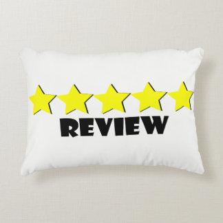 Almofada Decorativa travesseiro de cinco estrelas da revisão