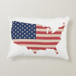 Almofada Decorativa Travesseiro decorativo de América da bandeira dos