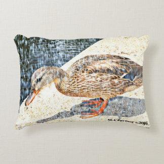 Almofada Decorativa Travesseiro decorativo do rei Pato Acento da coroa