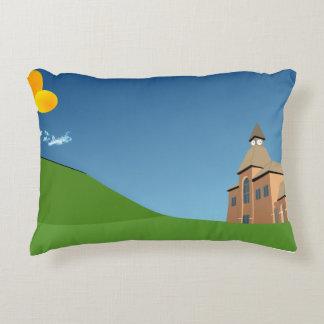 Almofada Decorativa Travesseiro do acento com gráficos da paisagem