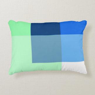 Almofada Decorativa Travesseiro do acento da cor de água-marinha multi