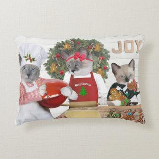 Almofada Decorativa Travesseiro do acento do gatinho do biscoito do