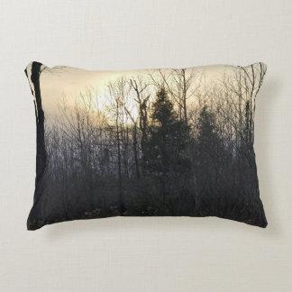 Almofada Decorativa Travesseiro do acento do por do sol da paisagem de