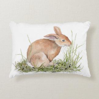 Almofada Decorativa Travesseiro do coelho de coelho da aguarela