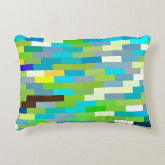 Almofada Decorativa Travesseiro dos pixéis do tijolo da cor