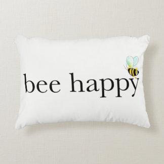 Almofada Decorativa Travesseiro feliz do acento da abelha