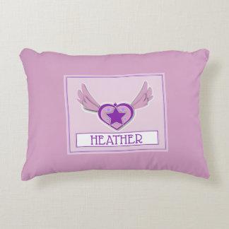 Almofada Decorativa Travesseiro feminino bonito do coração da urze e