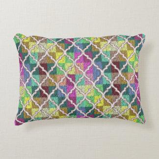 Almofada Decorativa Travesseiro MULTICOLORIDO do acento do TESTE