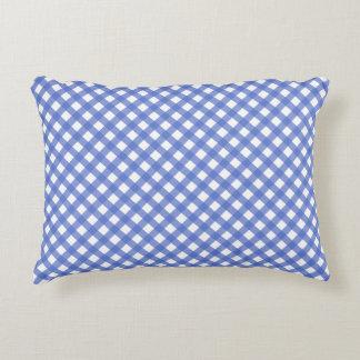 Almofada Decorativa Travesseiro náutico do acento do guingão dos azuis