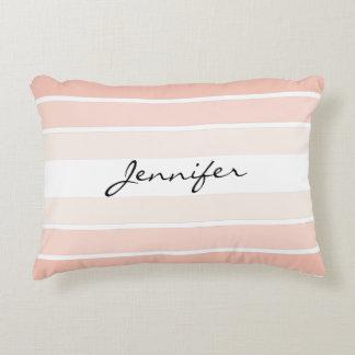 Almofada Decorativa Travesseiro Pastel cor-de-rosa coral do acento das