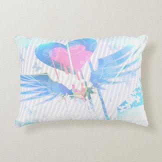 Almofada Decorativa Travesseiro Pastel do acento do coração e do